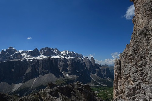Looking toward the Sella Massif from the Puez-Odle