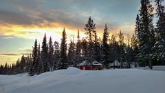 Lapland friday morning lights (ruben garrido lopez) Tags: lapland laponia suecia swedishlapland laponiasueca nieve snow winter cold kiruna kurravaara cottage sweden circulopolarartico artico sunrise amanecer