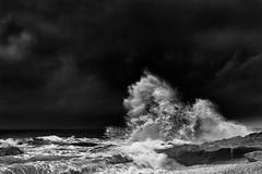 moment (savillejoe) Tags: ibarakiprefecture d700 japa sea scape seascape water roks tide bw cloud