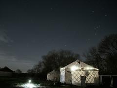 Yurt and Stars (marcusbentus) Tags: samyang 12mm f20 ncs cs mft glamping yurt tent night stars astrophotography astro star orion constellation camping worcestershire uk england midlands longexposure space universe nightsky lumix panasonic gx7 micro 43rds