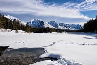 Winter Wonderland Above, Rocky Shores Below