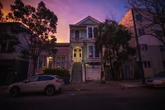 Sunrise Duboce Avenue (Carnesaurus) Tags: sunrise victorianhouse sanfranciscovictorian sanfrancisco duboce dubocetriangle