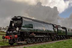 Strictly Bulleid Spring Steam Gala 31-03-2017 093 (Matt_Rayner) Tags: swanage railway strictly bulleid spring steam gala locomotive battle of britain class 34070 manston