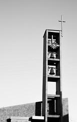 Ding (Inès pas dans les choux) Tags: lorraine church église cloches noiretblanc france diagonale