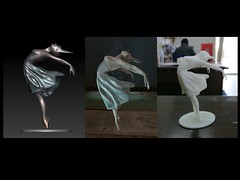 The-Dancer-bronze-casting-stages (Bryn Oh) Tags: bryn oh bronze sculpture dancer ballet hand immersiva contemporary art virtual reality