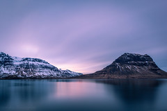 Grundarfjordur, Iceland (Sandy Sharples) Tags: iceland travel fjord longexposure mountains snow water waterside dusk sunset