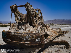 Salty (chuckl2432) Tags: digitalphotography chucklapinsky nikon sexappeal salty highcontrast abandoned urbex exploring rust desert saltonsea bombaybeach california machinery sandiego usa 840