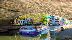 Summer in April... Strasbourg 2017 (3) (Cloudwhisperer67) Tags: amour cloudwhisperer67 medieval bridge ponts couverts cathedral cathédrale strasbourg alsace france view barrage vauban cityscape waterscape city town skyscape urban travel trip photography panorama panoramic amazing splendid april 2017 spring love lovely europe europa great flyboat boat lake canon 760d 760