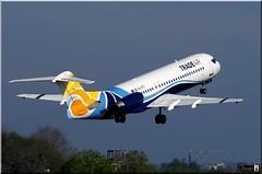 Fokker 100, Trade Air, 9A-BTE (OlivierBo35) Tags: nantes nte spotting fokker f100 tradeair