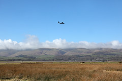 Hercules over Foxfield 8th March 2017 (John Eyres) Tags: while waiting for 6c51 foxfield pair raf c130 hercules came from sea up duddon estuary towards lfa17 low flying area 080317