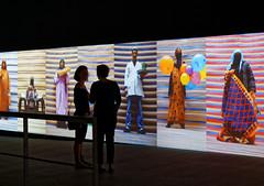 Talking about colors (Guillaume DELEBARRE (Guigui-Lille)) Tags: exposition garesaintsauveurlille silhouette film colors canon 6d ef50f12 art discussion black noir afrique f12