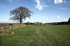 Stone circle. (sidibousaid60) Tags: ninestoneclose stonecircle bronzeage antiquity ancient hartshillmoor derbyshire peakdistrict uk landscape sky fields wall trees outdoor nikond750