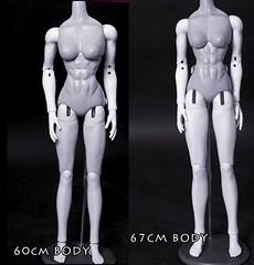60 and 66 (chalyss) Tags: 60cmmirodoll 66cmmirodoll muscularwoman wip handmade sculpted sicktress awesome