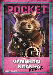 GOTG 2 - ROCKET (nam fullbuster) Tags: guardians galaxy vol 2 poster characters việt hóa nam lê yondu rocket nebula mantis gamora ego drax baby groot ayesha