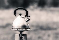 Put The Kettle On... (Daniela 59) Tags: sliderssunday kettle stove gasstove camping campingsite daanviljoengamepark 100x2017 100xthe2017edition image40100 theworldaroundme monochrome blackandwhite namibia danielaruppel