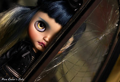 I see (pure_embers) Tags: pure laura embers blythe doll dolls custom photography uk england girl pureembers tiina soda emberssoda lip ring piercing portrait leather jacket rock chick workshop broken glass
