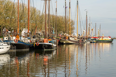 Peaceful Harbor (Jill Clardy) Tags: 2017 europe thenetherlands vantagetravel rivercruise harbor boats water reflections enkhuizen day sunny