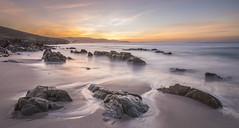 Sunset (GC - Photography) Tags: landscape water beach arena sand rocas rocks mar sea atardecer sunset arteixo lacoruña galicia españa spain ndfilters filtrosnd sol sun gcphotography costa coast ripibelobeach playaderipibelo nikon d500