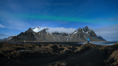 Under the Moonlight (FredConcha) Tags: iceland stars landscape mountains moonlight alone aurora nikon d800 fredconcha 1424 vestrahorn