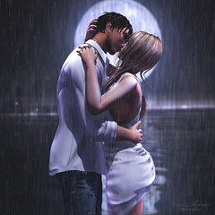 { drown me in your love } (Trinetty Skytower) Tags: sl secondlife avatar digital virtual love couples intimacy romance theliaisoncollaborative tlc ooostudio drown rainy pose photography gabriel argrace bento vista