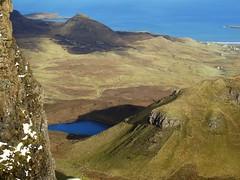 Looking towards Staffin from Bioda Buidhe on the Quirang on Skye (HighlandArt13) Tags: staffin skye isleofskye islands bay hillwalking scottishhighlands scotland hills hebrides biodabuidhe quirang quiraing trotternish ridge