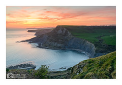 Chapman's Pool, Isle Of Purbeck (Chris Jones www.chrisjonesphotographer.uk) Tags: chapmans pool isle purbeck dorset jurassic coast coastline chris jones photographer wwwchrisjonesphotographeruk sea edge sunset uk england south west rock