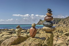 Just take a pebble (pauldunn52) Tags: nanjizalbeach lands end cornwall granite pebbles beach art sea