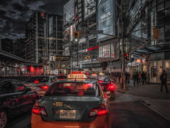 Rush hour, Dundas square (urbanexpl0rer) Tags: toronto ontario canada street streetphotography streetshot traffic rushhour night nightphotography dundassquare