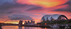 The Quayside (►►M J Turner Photography ◄◄) Tags: sky sunrise newcastle newcastleupontyne thesage gateshead millenniumbridge thebaltic morning city cityscape urban urbanscape tyne rivertyne river