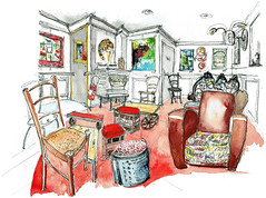 L'Envers du bocal, Poitiers (Croctoo) Tags: croctoo croquis croctoofr aquarelle watercolor boutique restaurant bar poitou poitoucharentes poitiers expo