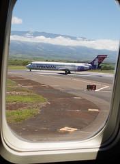 2017-075 Hawaiian Airlines Plane at Kahalui Airport