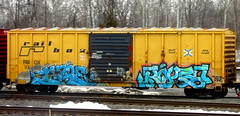 gzee - ropes (timetomakethepasta) Tags: gzee ropes atb kyt freight train graffiti art boxcar rail box rbox benching selkirk new york photography begr goose