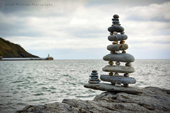 Laxey Beach (cabmanstu) Tags: isleofman laxey beach pebbles sculpture beachart art coast balancing stones sea