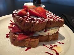 Stuffed French Toast (pianoforte) Tags: frenchtoast stuffedfrenchtoast berrycompote yogurt creamcheese banana strawberry kozykitchen dallastx dallas