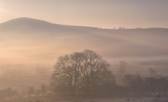 Valley Of Dreams (Captain Nikon) Tags: earlsterndale upperdovevalley derbyshire peakdistrict ethereal misty mist moody atmospheric silhouettes hills nikond7000 nikon18105mm