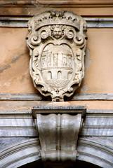 Trapani, Via Torre Arsa, Palazzo Senatorio / Palazzo Cavarretta, Wappen von Trapani (Trapani's coat-of-arms) (HEN-Magonza) Tags: trapani sizilien sicily sicilia italien italy italia viatorrearsa palazzosenatorio palazzocavarretta wappenvontrapani coatofarmsoftrapani