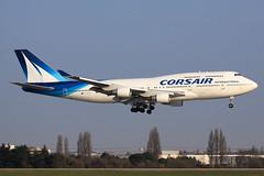 Corsair  Boeing 747-422 F-HSEA (widebodies) Tags: paris orly ory lfpo widebody widebodies plane aircraft flughafen airport flugzeug flugzeugbilder corsair boeing 747422 fhsea