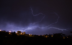 Power of Nature (Nuno Moura (rsn00b)) Tags: thunder city lightning dark sky cityscape nature power canon 500d penafiel portugal