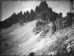Caged Nature (Bastiank80) Tags: polaroid large format tre cime barbwire world war massive walls mountains