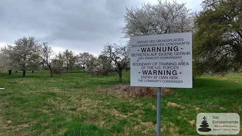 WARNUNG des Standortkommandanten (US-Army Übungsgelände)