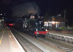 'Earl of Mount Edgcumbe'. Widney Manor. (ricsrailpics) Tags: uk westmidlands widneymanor steamtrain nightshot charter vintagetrains 2017