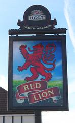 English Pub Sign - The Red Lion, St Helens (big_jeff_leo) Tags: sthelens england english streetart sign painted art pub bar tavern