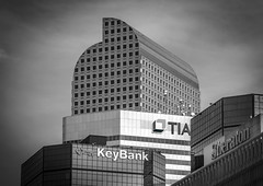 Lots of Buildings (photographyguy) Tags: bw blackandwhite keybank tiaa sheraton urban skyscrapers wellsfargocenter downtowndenver downtown windows