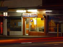 Johnsonville (paulhamernz) Tags: chinesetakeout takeaways chinesetakeaway newzealand wellingtonnz wellington johnsonville lighttrails carlighttrails nightphotography fishandchips