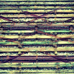 Layered Laths & Lattices (unclebobjim) Tags: normandie normandy utahbeach museum woodenlath retainingwall steellattice greatphotopro photoscapex layered composite squarecrop abstractcomposite shockofthenew abstractcomposites