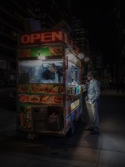 Open (karinavera) Tags: travel sonya7r2 kiosks street people lights store newyork night urban