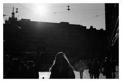 HELSINKI IS LONESOME (danieltim.net) Tags: streetphotography blackandwhite impressionist urban candid street underexposed experimental obscure darkened sun sunlight shadow film slowfilm rpx25 atmosphere mood feeling
