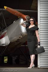 Loulou Pidooh (Laurent CLUZEL) Tags: nikon d610 70200 28 vrii loulou pidooh vintage airplane aircraft stampe sv4 classy woman black dress high heels cercle machines volantes compiègne cmv