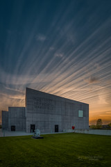 Sunset at the Hepworth (tbnate) Tags: wakefield wakefielduk westyorkshire yorkshire thehepworth sunset sky clouds museum art gallery tbnate nikon nikond750 d750 grass building architecture city cityscape landscape goldenhour hdr lights outdoor outside ultrawide ultrawideangle