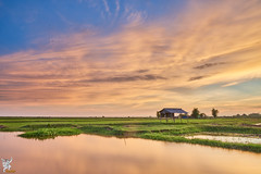 Sunset in Siem Reap (Wandering Cambodia) Tags: siem reap cambodia sky landscape scenery sunset cloud water countryside rural